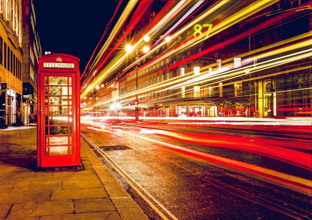 london british iconic telephone booth